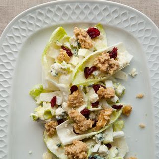 Endive Salad with Blue Cheese, Cranberries and Candied Walnuts