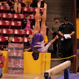 Upside Down by Yamin Tedja - Sports & Fitness Other Sports ( ncaa, sports, college, gymnastics, gymnast )