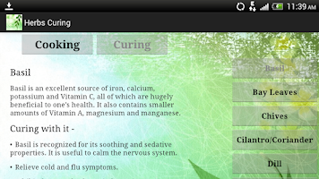 Screenshot of Herbs Cooking & Curing