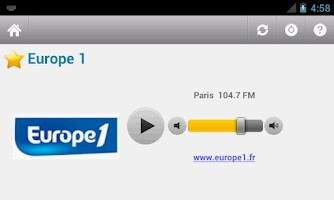 Screenshot of France Radio