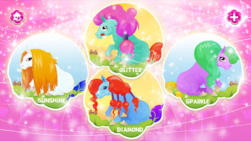 Screenshot of Glitter Pony Salon