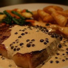 Juicy Steak With Brandy Peppercorn Sauce