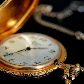 Grandfather's pocket watch by Catherine Talbot - Artistic Objects Antiques ( classy, detail, time, pocket watch, vintage, gold, antique )