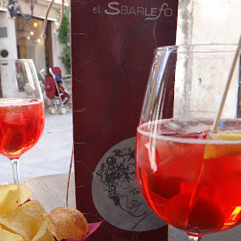 Italian afternoon by Pamela Howard - Food & Drink Alcohol & Drinks ( venezia, chips, glasses, alcohol, venice, leisure, drinks )