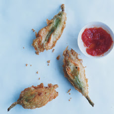 Squash Blossoms Stuffed with Ricotta