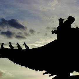 China Roof by Skylar Marble - Buildings & Architecture Architectural Detail ( china chinese architecture )