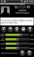 Screenshot of SVOX Br. Portug. Luciana Trial