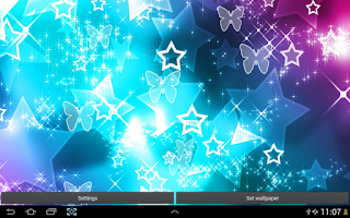 Screenshot of Lucky Stars Live Wallpaper