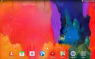 Screenshot of Note Paint Live Wallpaper