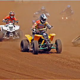 Who lost a wheel ? by Johann Perie - Sports & Fitness Motorsports ( speedway, quad racing )