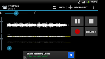 Screenshot of Twotrack audio recorder free