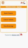 Screenshot of KSRTC eTicket
