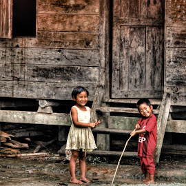 Smile From Village by Alief N Ardiansyah - Babies & Children Children Candids ( village, play, children, traditional, smile )