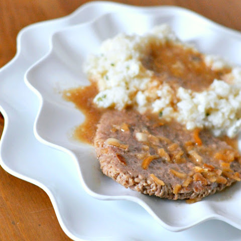 French Onion Cube Steaks with Gravy