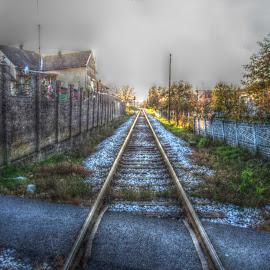 Railroad in Bjelovar by Štefan Brajković - Transportation Railway Tracks ( croatia, bjelovar-bilogora county, bjelovar )