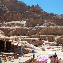 Jordan - Petra Excavations by Luci Henriques - Landscapes Caves & Formations (  )