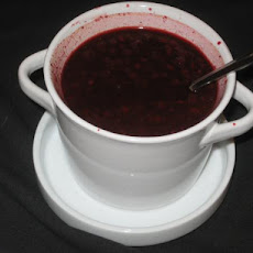 Warm Raspberry Red Wine Sauce for Fish, Chicken, or  Pork