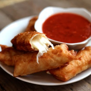 Wonton Mozzarella Sticks