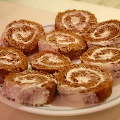 Cream Cheese And Pumpkin Roulade