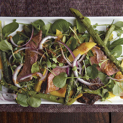 Grilled Asparagus and Steak Salad with Hoisin Vinegarette