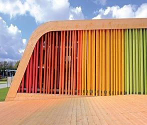 colores fachada Pabellón Español Floriade 2012