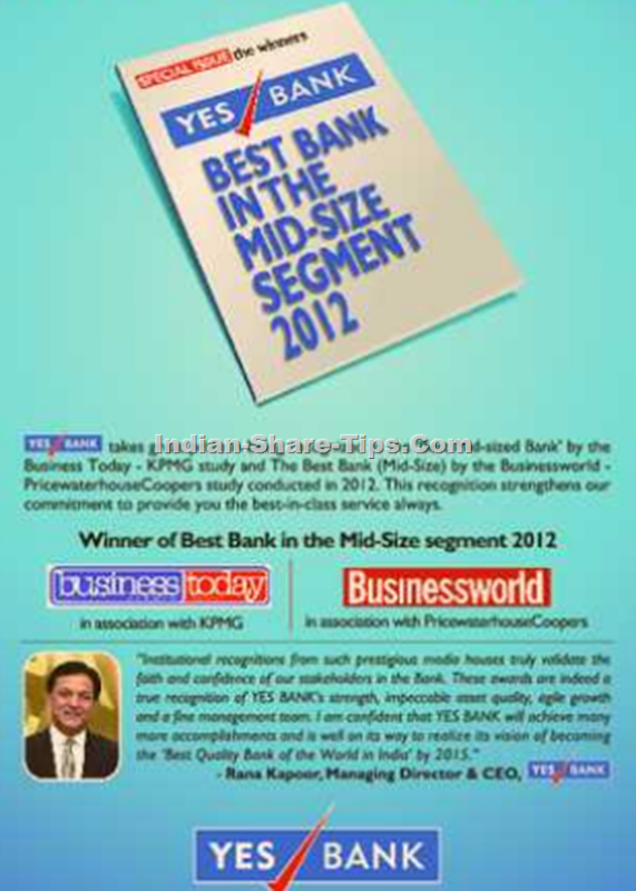 Yes bank gets award