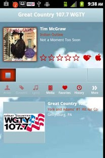 Great Country 107.7 WGTY - screenshot thumbnail
