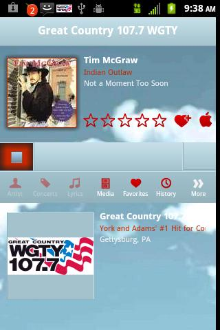 Great Country 107.7 WGTY - screenshot