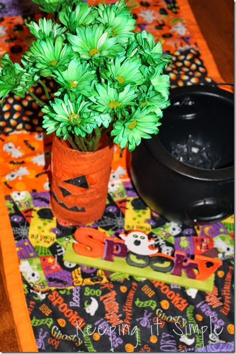 Halloween pumpkin flower vase #kidscraft (7)