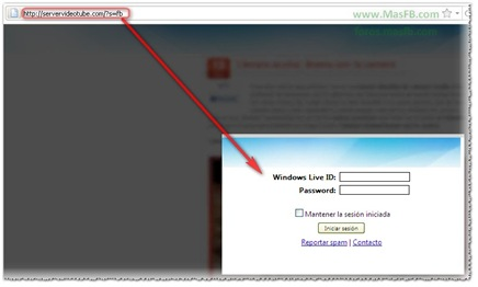 Credenciales de Windows Live para expandir virus ?