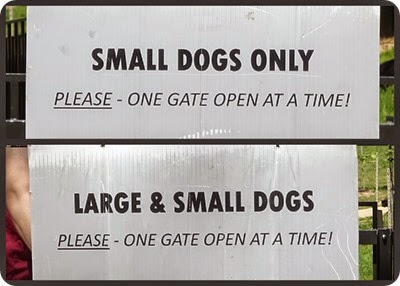 dog park signs