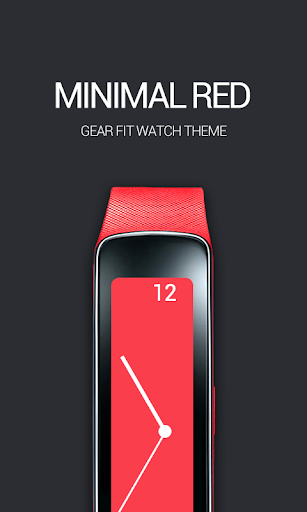 Minimal Red Clock