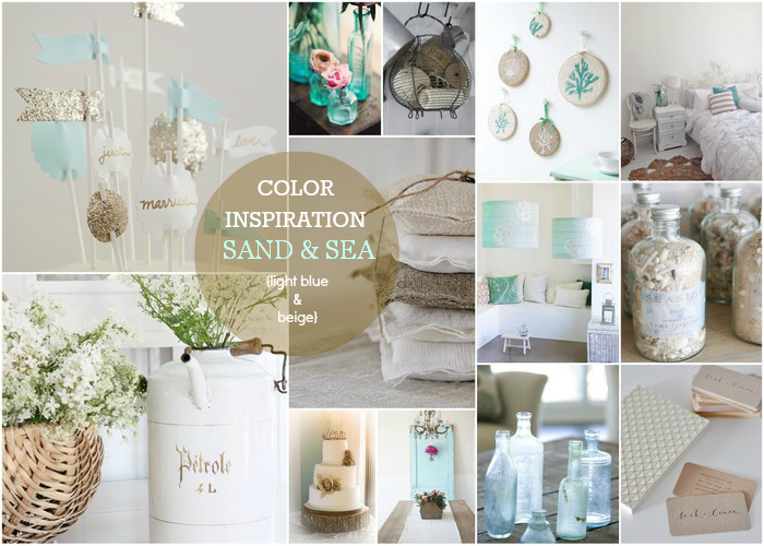 COLOR INSPIRATION: Sand & Sea {light blue & beige} curated by carolynshomework.com