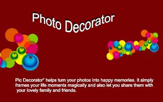 Screenshot of Photo Decorator