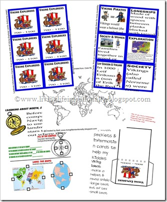 FREE viking worksheets and lapbook