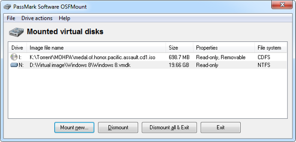 OSFMount: Mount Any Disk Image as Virtual Drive - Instant Fundas