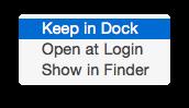 Yosemite Keep in Mac OS Dock