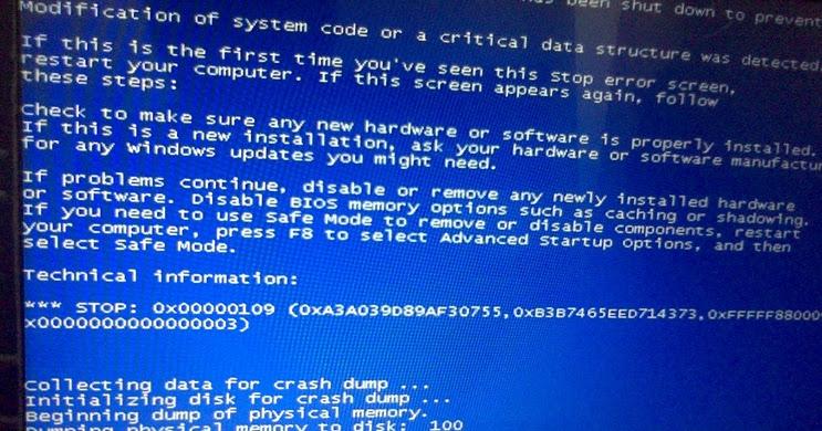 Cara Mengatasi Crash Dumping Memory Blue Screen Ihsan Saidi