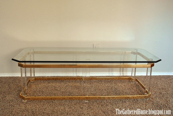 Found: Hollywood Regency Brass, Glass & Lucite Tables - The Gathered Home