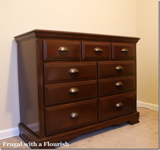 Frugal With A Flourish How To Strip And Restain A Dresser