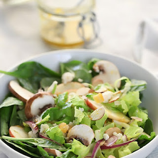 Winter Green Salad with Orange Honey Mustard Vinaigrette