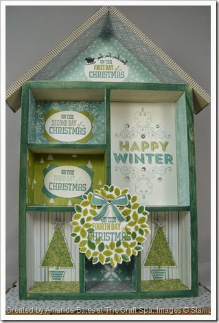 12 Days of Christmas, All is Calm 3D House, Shadow Box, Amanda Bates, The Craft Spa,  (3)