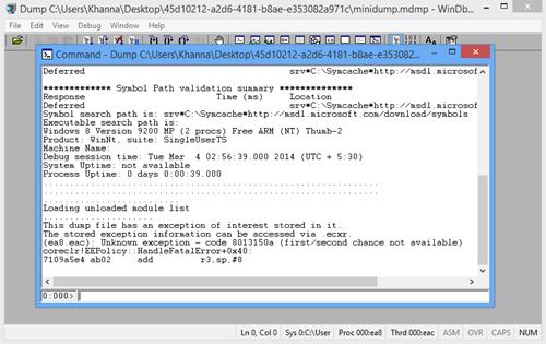 Gaurav Khanna's Blog: Use WinDBG to see crash dump details