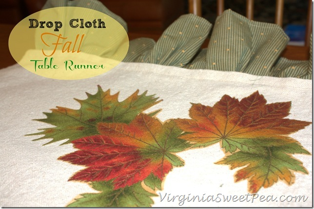 Drop Cloth Fall Table Runner