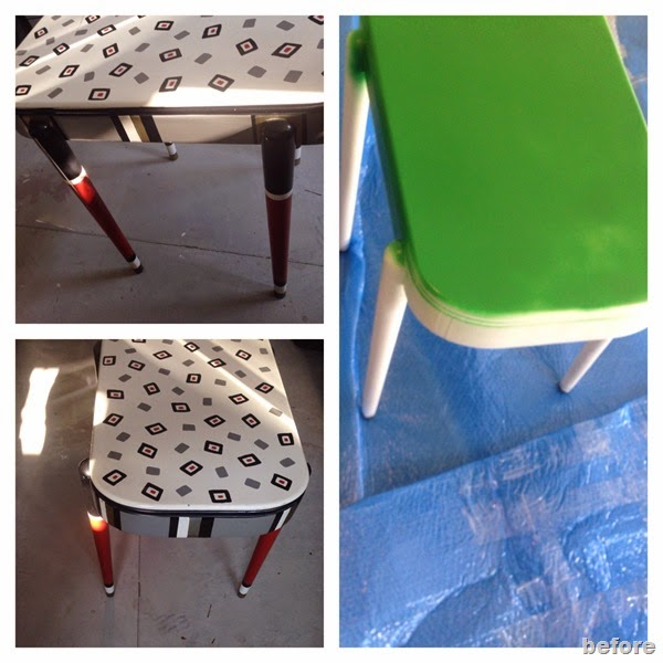 Thrifted Table Makeover with Paint- design addict mom