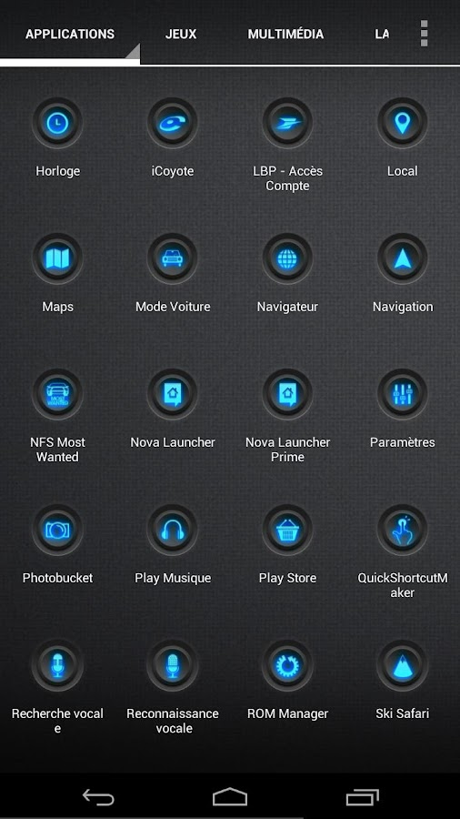 Blaque Blue icon pack- screenshot