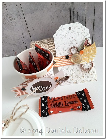 Mini coffee cup gift set chocolate by Daniela Dobson