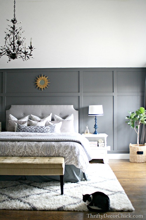 gray bedding bedroom