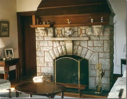 Rock fireplace tv mount