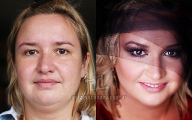 Antes y despues del maquillaje 9
